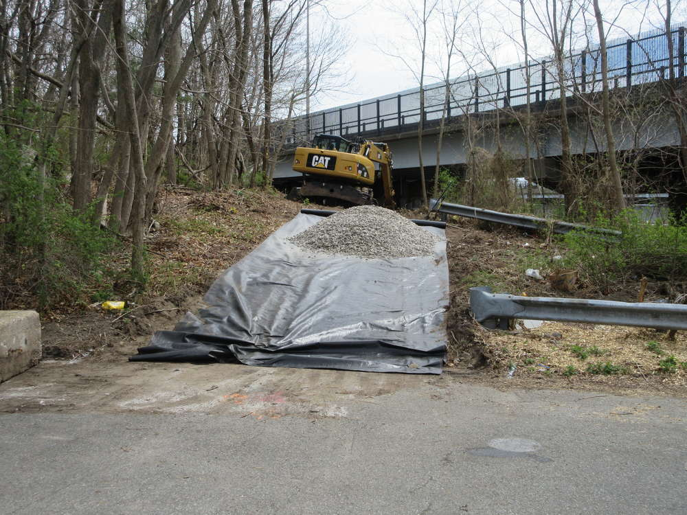A massive $30 million overhaul of the southbound span of the Gold Star Memorial Bridge has begun. (ConnDOT photo)