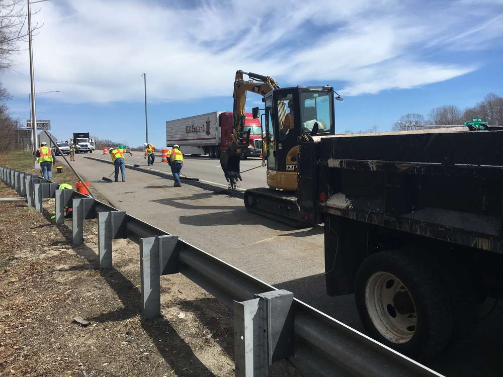 About 4,500 cu. yds. of asphalt will be laid over the course of the project. (ConnDOT photo)