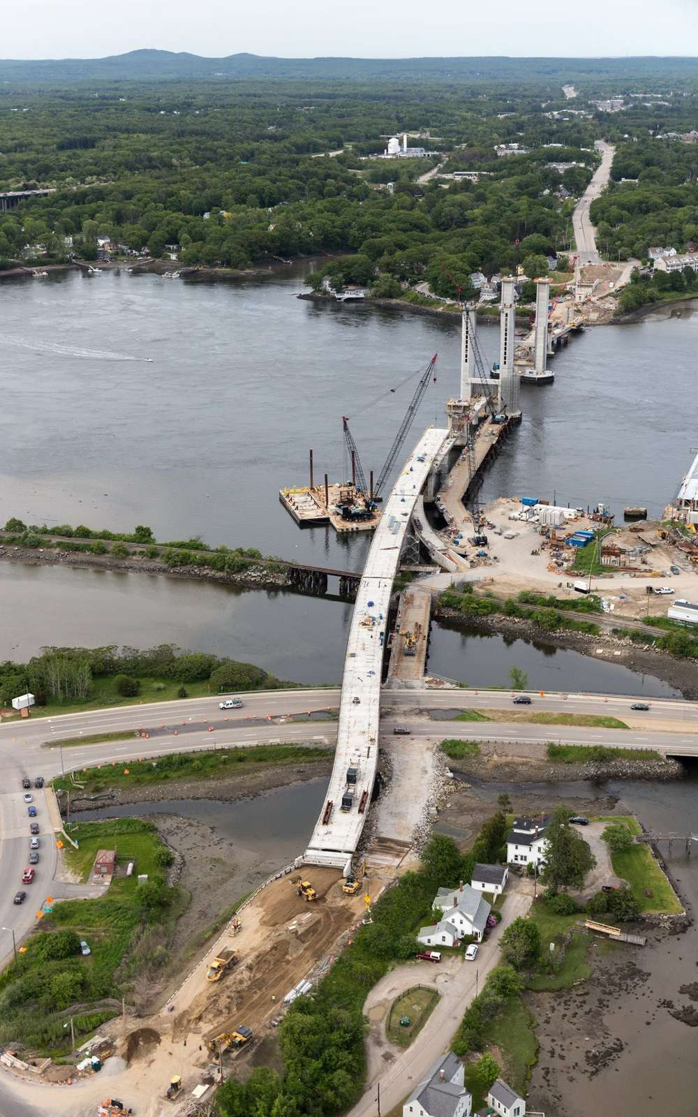 The Sarah Mildred Long Bridge Replacement is nearing its fall completion date.