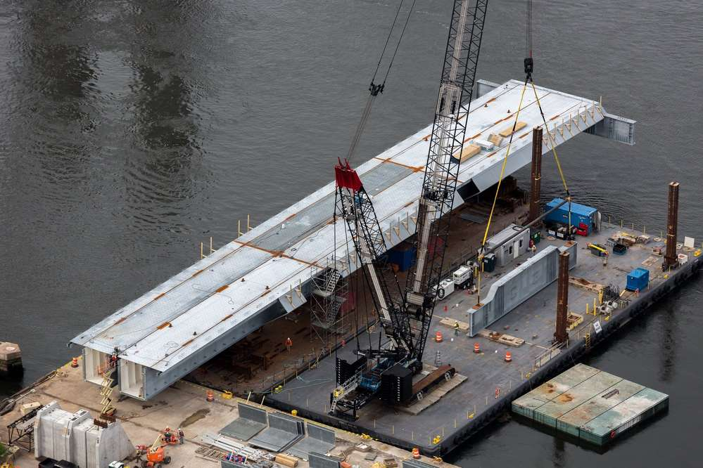 According to Senior Project Manager Kaven Philbrook, Cianbro's crew performed thousands of crane picks that were maximum capacity picks on the Sarah Mildred Long Bridge Replacement project.
