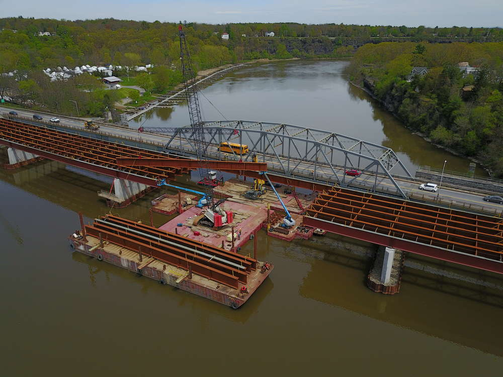 The new $32.5 replacement for the current 52-year-old Rexford Bridge stretches across a narrow point on the Mohawk, while connecting motorists traveling state Route 146.