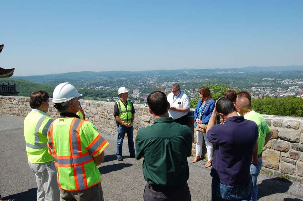 Schlouch Incorporated meets with township and city officials to discuss the Skyline Drive Improvements project. The project was made possible through grants awarded to the city of Reading, Alsace Township and Lower Alsace Township.