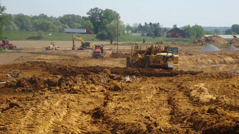 Schlouch Incorporated begins earthwork and storm sewer installation at Springwood. The 40-acre project in North Cornwall Township, Lebanon County, combines a broad range of Schlouch Incorporated's site preparation services.