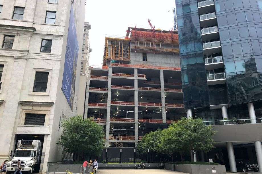 Construction work has resumed at major sites like the W/Element Hotels in Center City after a days-long union strike. (Melissa Romero photo)