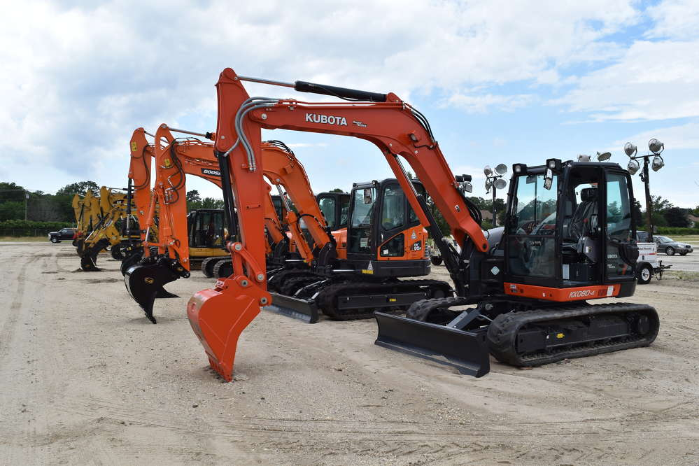 Many excavators went to the highest bidder during the sale.