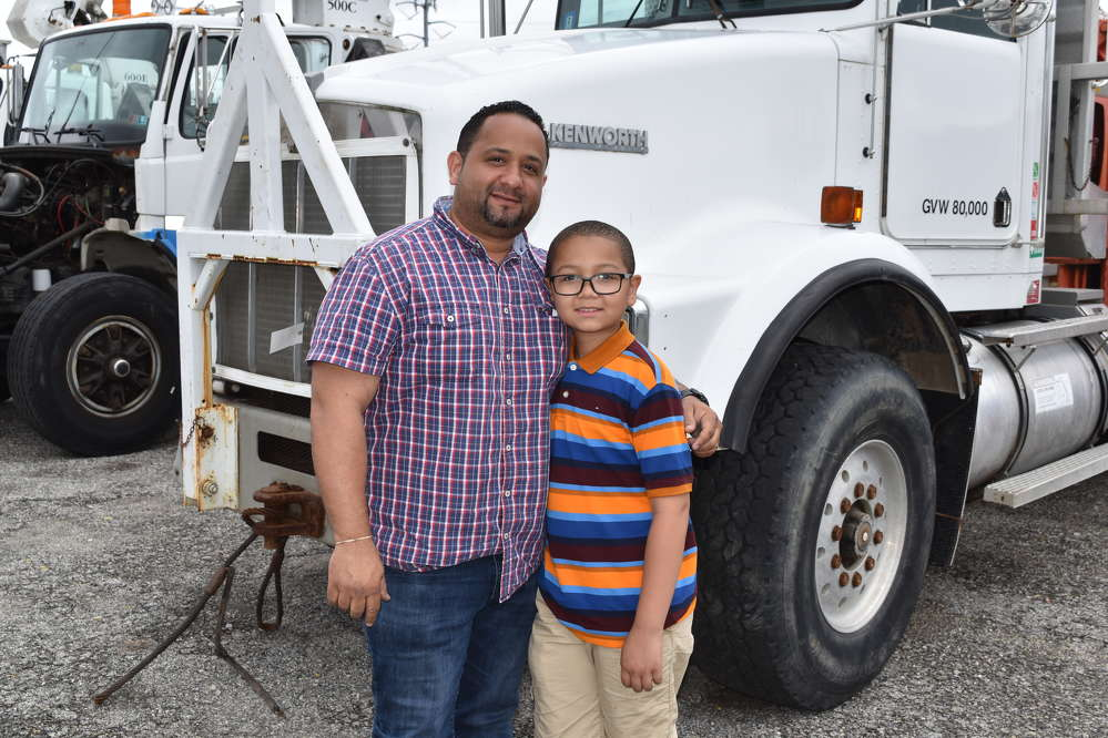 Emmanuel Rodriguez, owner of F&E Truck Sales, New York, N.Y., attended the sale with his son, Edward.