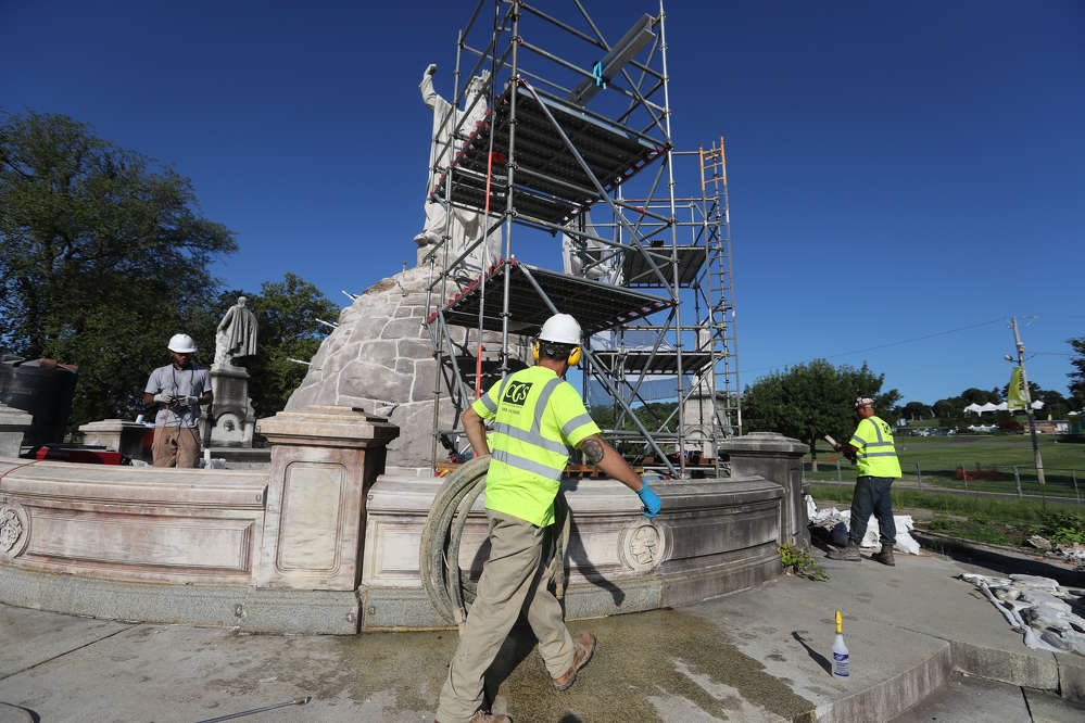 CGS helped to restore the 1800s-era Catholic Total Abstinence Fountain in Philadelphia by injecting grout beneath the stone base of the centerpiece Moses statue, in addition to the granite steps surrounding the marble fountain and four satellite statues.