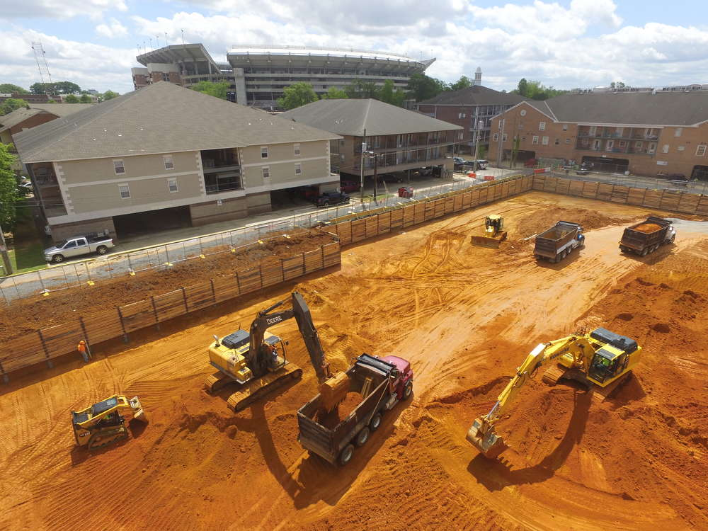 A sparkling new student-housing complex is taking shape in Tuscaloosa, Ala., within the shadow of the home stadium of America's top college football program.