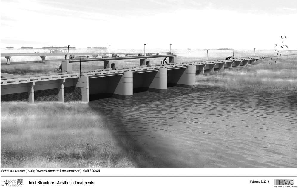A rendering of the completed Fargo?Moorhead (FM) Area Diversion Project