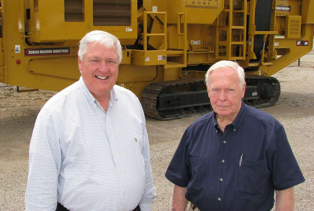 Thompson Tractor's Bill Warr (L) and Jim Bailey welcome the addition of two new crushing and screening lines to their product offerings.