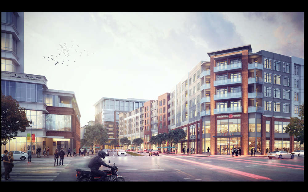 A rendering of the completed Capitol View project. (Boyle Investment Company rendering)