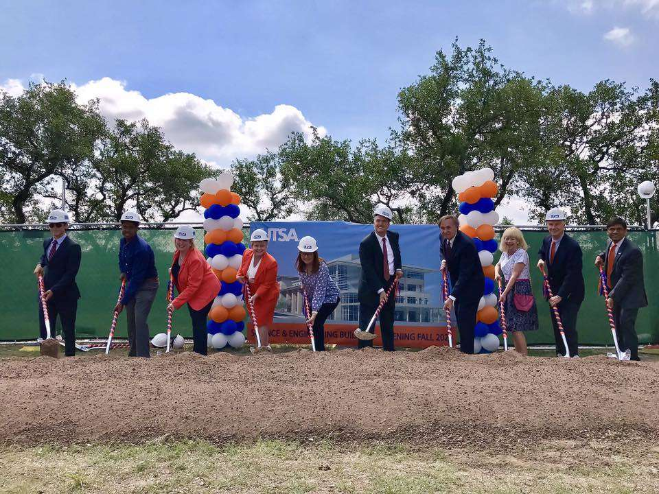 Officials from the University of Texas at San Antonio broke ground on June 9, on its $95 million science and engineering building. (UTSA Facebook photo)