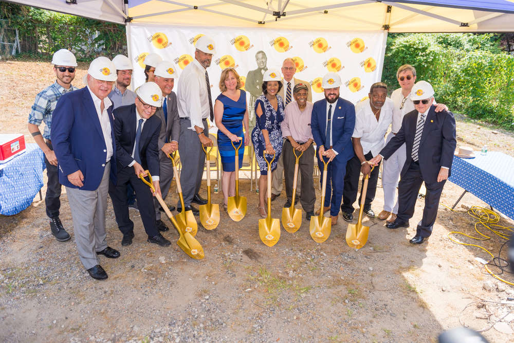 Officials broke ground for the new Louis Armstrong House Museum educational center. (Photo Credit: Queens College)