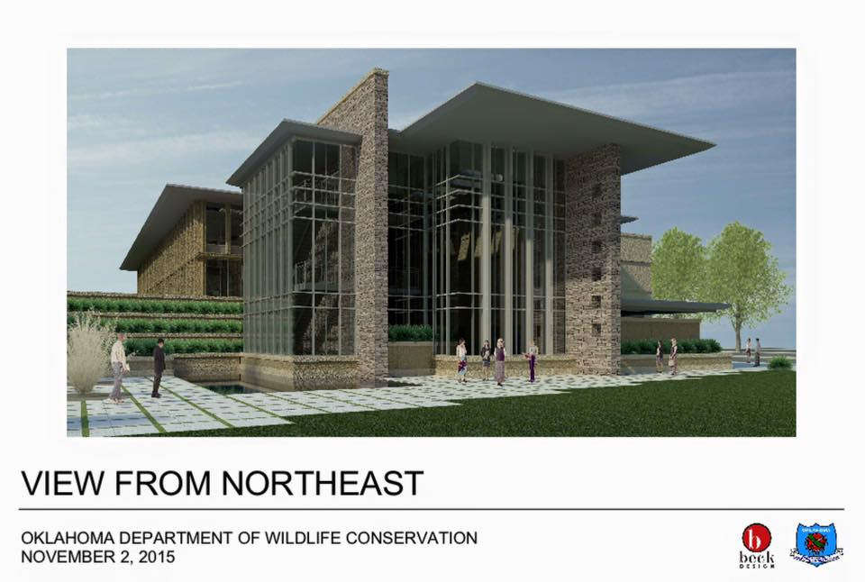 The new building will stand three stories tall and will provide more room for wildlife conservation staff. It's slated to be completed in July 2018.