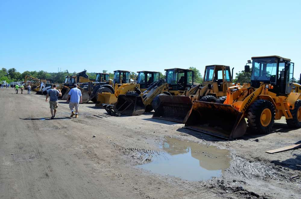 The North Country Auctions sale featured a large fleet of loaders, excavators, skid steers and mini-excavators.