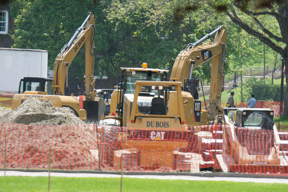 A $48.5 million dollar construction effort at the nation's oldest private military college is under way in Northfield, Vt.