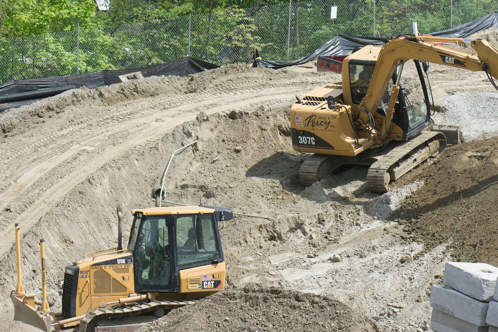 The site work project requires offsite removal of roughly 25,000 cu. yds. of existing soil.