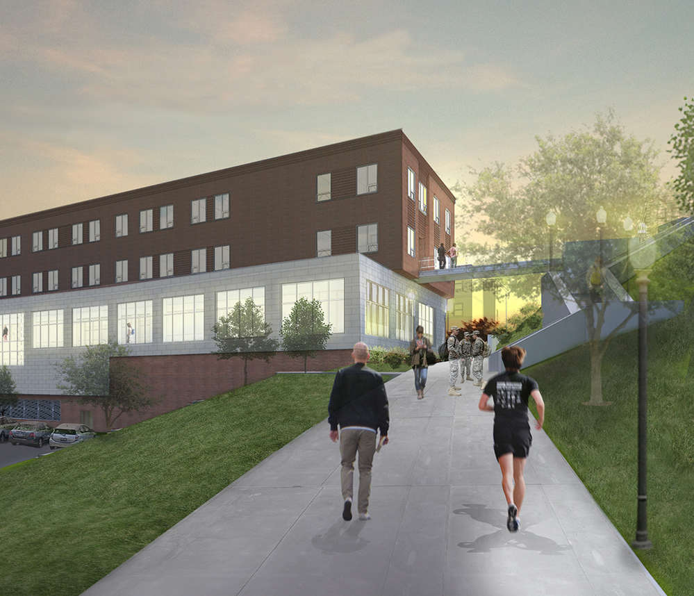 The  Norwich University project includes a four-story academic building, along with major updates to Dewey, Webb and Ainsworth Halls.
