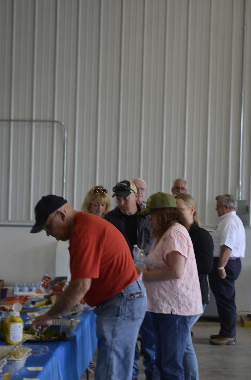 A barbecue lunch was provided to Rifenburg vendors, employees and their families.