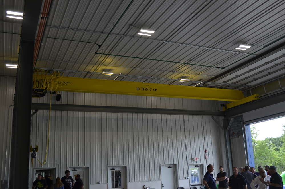 Ten-ton overhead cranes allow support staff to tackle any sized mechanical job.