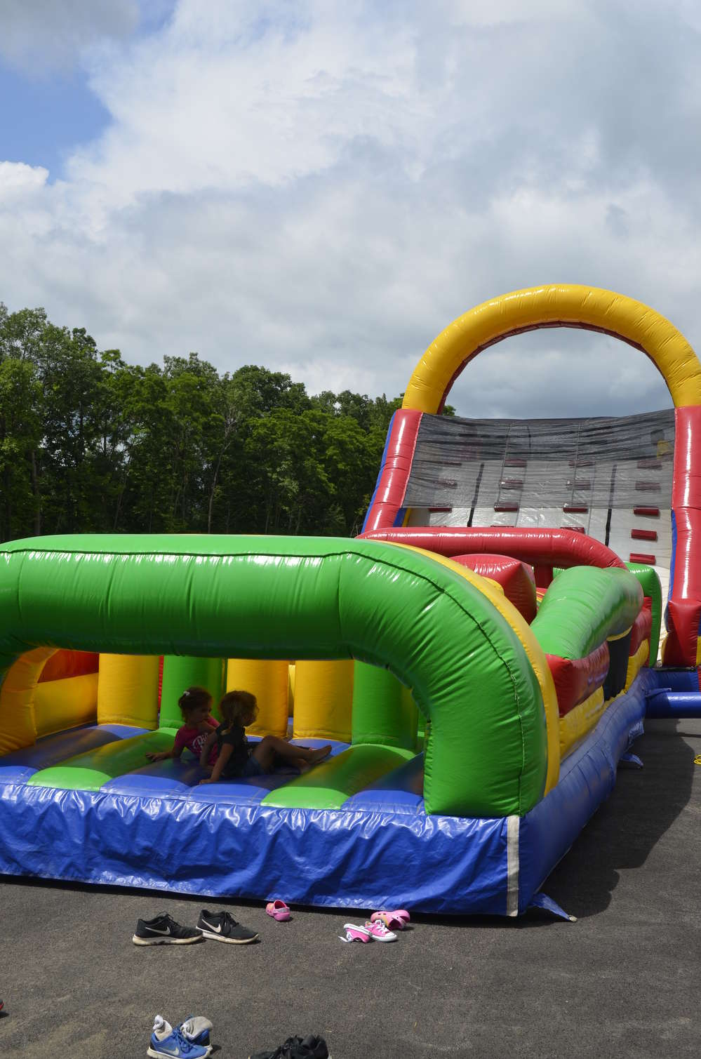 Employees' children enjoyed the bounce house.