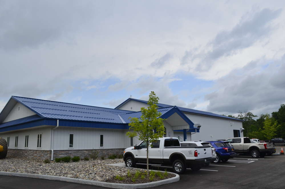 Marcy Excavation Services and Park East Sales new facility in Herkimer, N.Y.