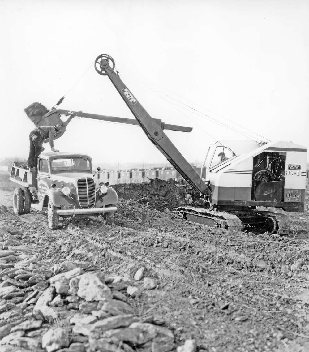 A Bucyrus-Erie 19-B shovel owned by Joseph Herzog in Philadelphia, Pa.