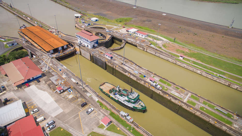In dramatic fashion, an orthotropic deck shipped from Washington State via the Panama Canal has reached its final destination in New Jersey.