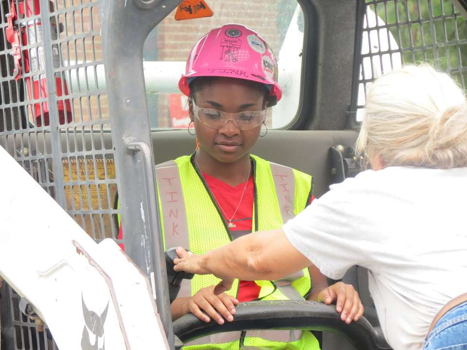 So far this week, the girls have learned about Occupational Safety and Health Administration safety training, tool safety and carpentry skills (Photo Credit: www.mentoringagirlinconstruction.com).