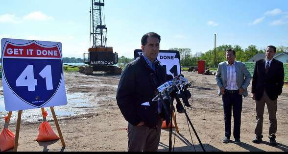 Gov. Walker attempted to broker a compromise, calling for a $200 million reduction in borrowing and more federal money to keep major interstate projects in southeast Wisconsin on track. (walker.wi.gov photo)