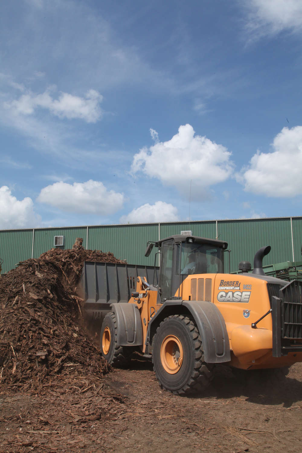 Battle credits his wheel loader fleet for keeping the operation running.