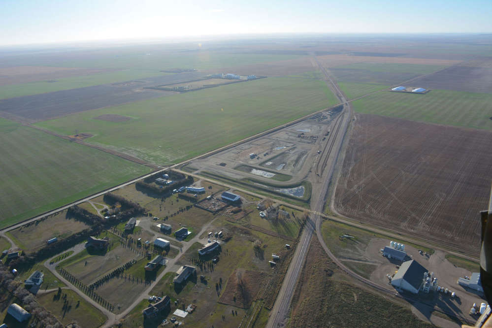 Ringneck Energy says it will begin construction Aug. 14 on its $150-million ethanol plant south of Onida, South Dakota on this 43.5 acre triangle shown in November 2016.