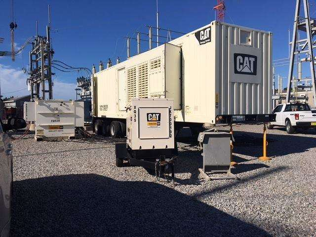 Gregory Poole, a Raleigh-based CAT distributor brought in 12 of the brand's XQ1000 and XQ2000 generators. (Photo courtesy of Gregory Poole)