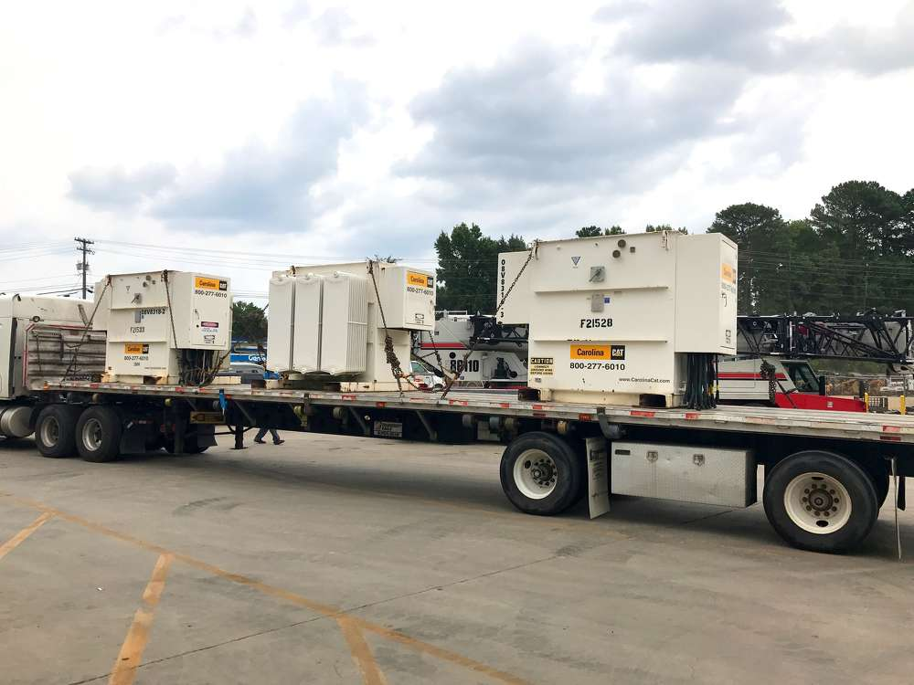 According to Sheorn, Carolina CAT has provided the islands with generators in the past, so they knew which pieces would work. (Photo courtesy of Carolina CAT)