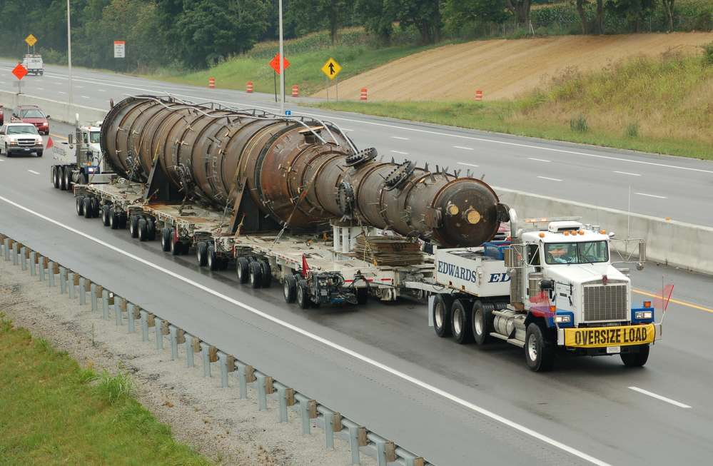 Recently, three of Edwards' C500s were used to haul a 187-ton turbine 230 miles from the manufacturer in New York over the Adirondack and Pocono Mountains to a combined-cycle plant in Pennsylvania.