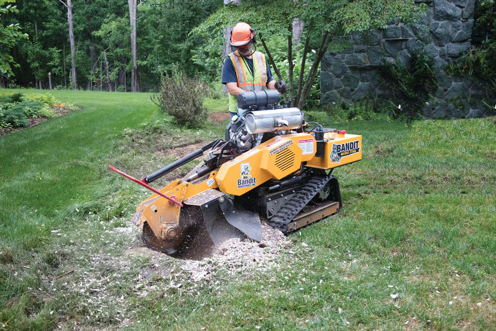 """The ZT1844 is designed from the ground up to outperform all other stump grinders in its class,"" said Bandit Sales Manager Jason Morey."
