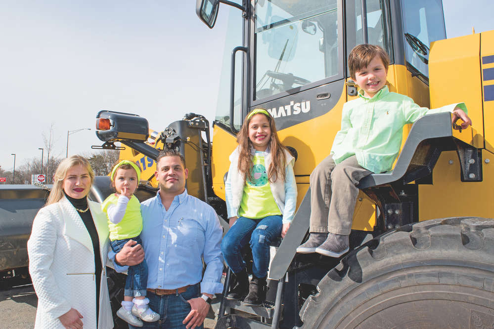 Family is a big part of Damasceno's Landscapes & Construction LLC. Vice President Ana Paula and President Eddie Damasceno hope that their children (L-R) Stella, Stephanie and David will one day continue the company.