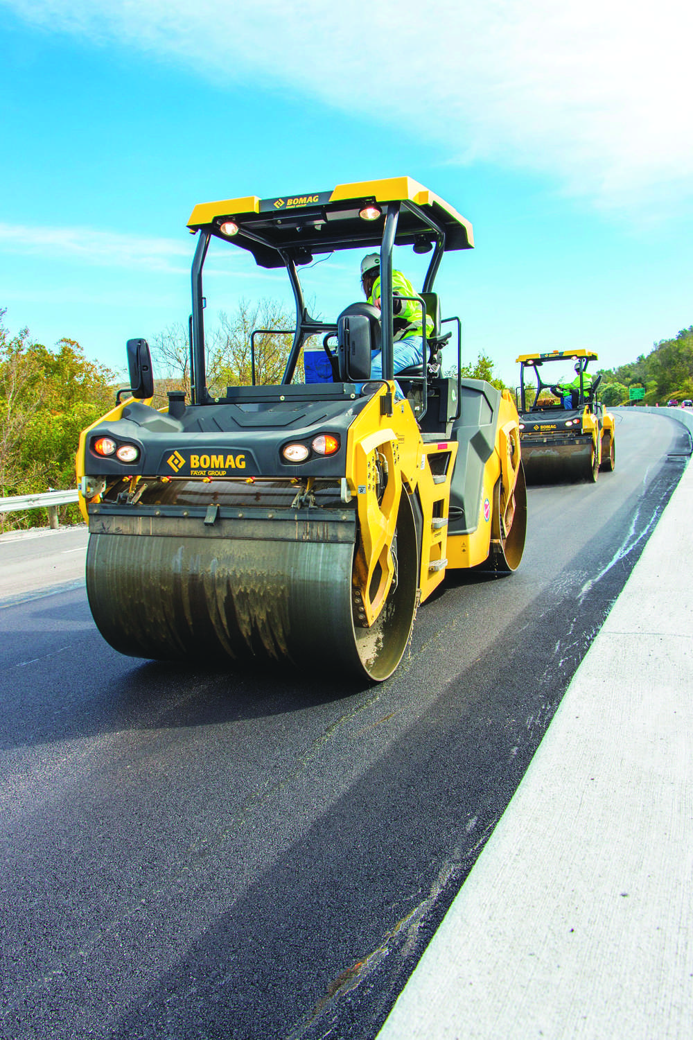 Bomag offers three different vibration technologies — vertical, TanGO and Asphalt Manager — throughout the asphalt roller line.