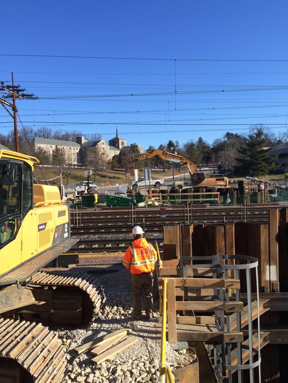 A  $30.6 million project that will modernize Villanova Station on the Paoli/Thorndale Regional Rail Line is making steady progress in Villanova, Pa.