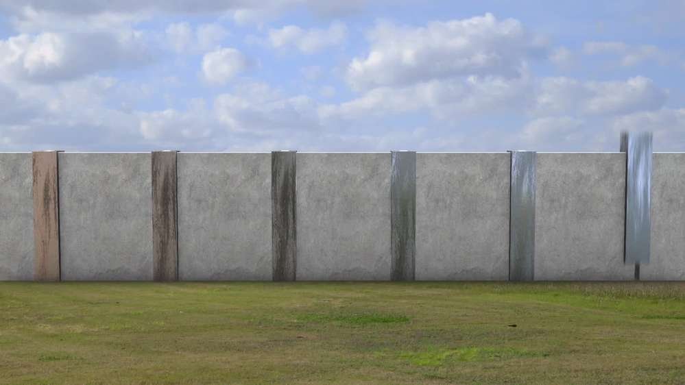 The finished prototype may be used for future designs for construction of the wall along the rest of the border.