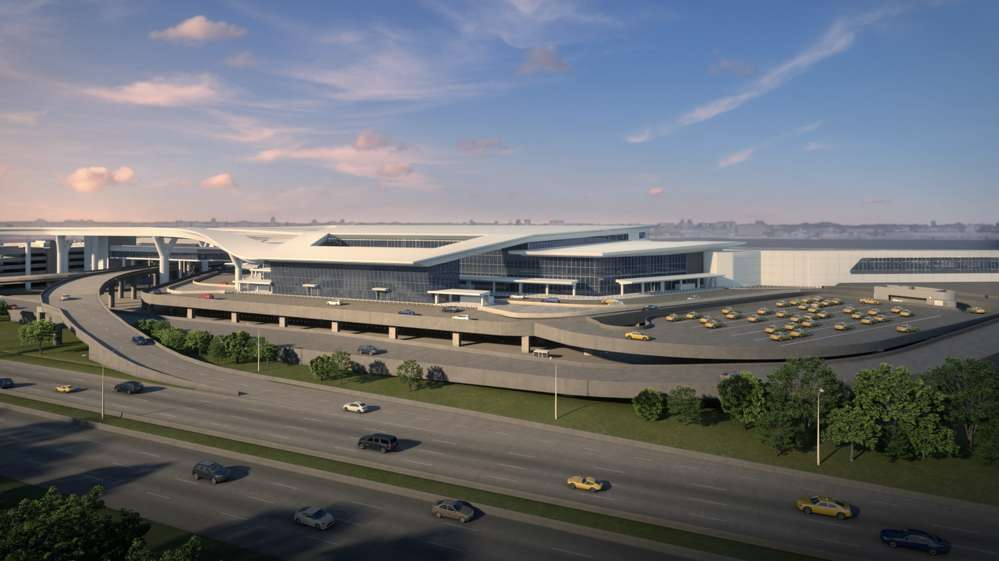 The new terminal will offer direct access between the parking garage and the airport's new Central Hall, improved drop-off/pick-up areas, as well as a curbside check-in bypass leading directly to the security checkpoint.
