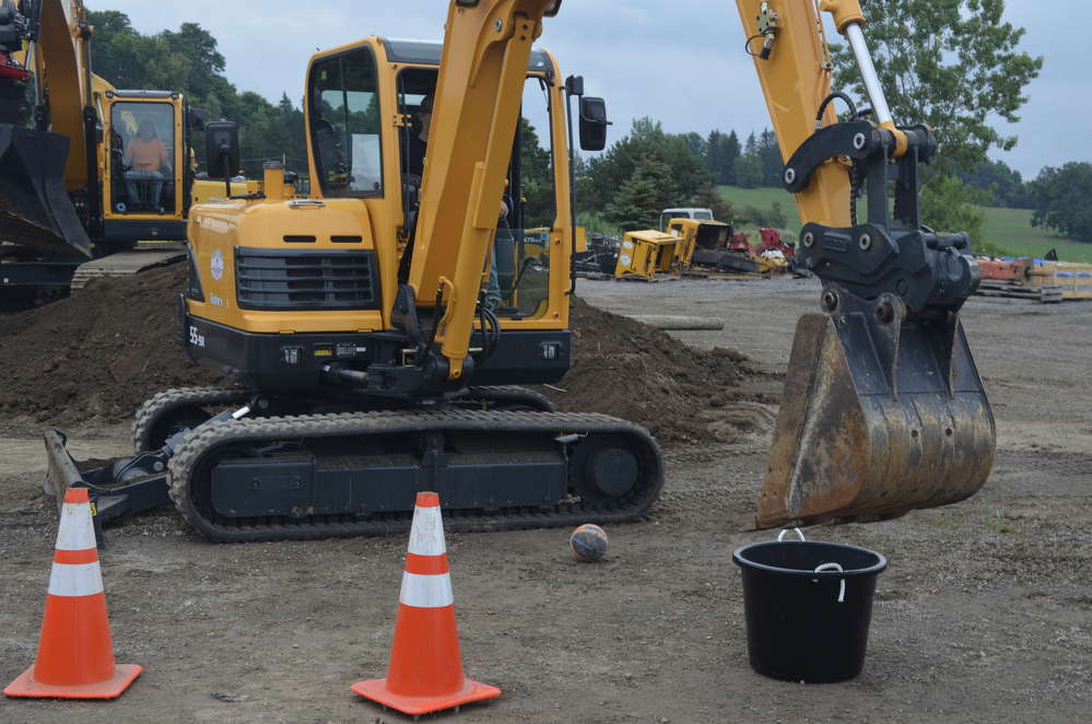 Hyundai excavators were used throughout the day as area equipment operators tested their skills against each other.