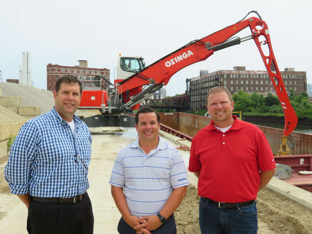 (L-R): Jason Zeibert, president Finkbiner Equipment Company; Paul Ozinga, executive vice president of Ozinga; and Jerry Joynt, sales representative of Finkbiner Equipment Company.