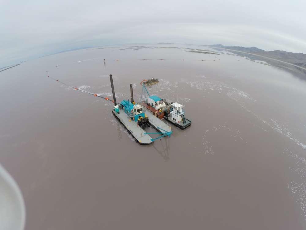 DSC Shark Class Dredge and Barge, each with Tier 4 Final C32 ACERT Caterpillar engine.