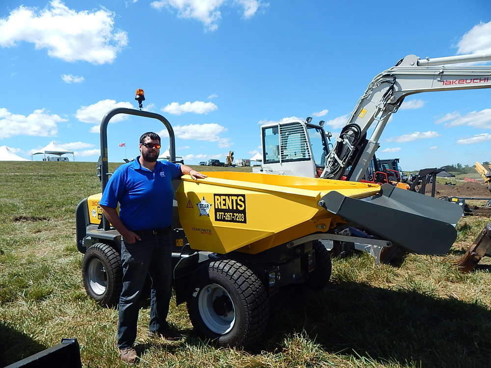 Mitch McDonough, territory manager of Star Equipment, attends the event.