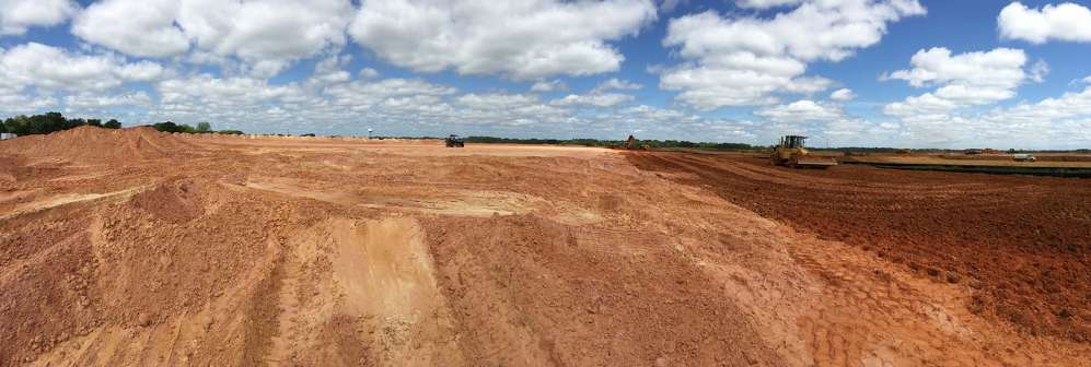 Crews have been moving dirt to make way for construction of the more than 2.5 million sq. ft. facility, which will be Walmart's fourth distribution hub in the state.