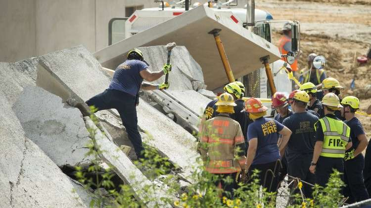 "Special operations firefighters, using concrete saws and sledgehammers, ""started working through with their equipment to chisel through and get through the concrete,"" AFD Division Chief PalmerAFD Division Chief Palmer Buck said."