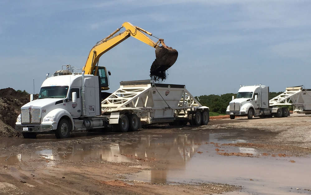 """""""We have 11 pneumatic trailers and provide sand for the oil industry in fracking operations, Brown said."""