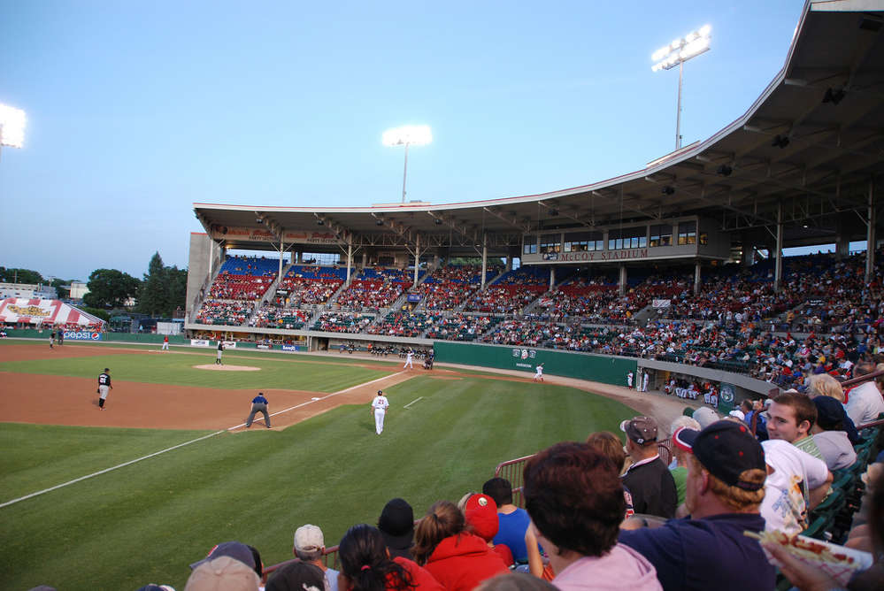 In an effort to prevent the Pawtucket Red Sox from being lured to another town, Mayor Donald Grebien of Pawtucket, R.I., has urged the state's lawmakers to pass a bill allowing for construction of a new $83 million stadium for the team.