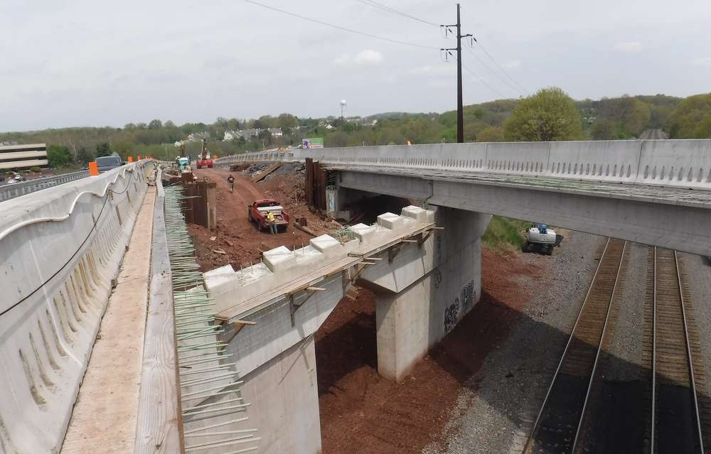 Work on the project began in February 2016 and is set for completion in May 2020. (Photo Credit: PennDOT)